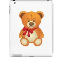 Teddy Bear with Red Bow iPad Case/Skin