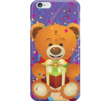 Teddy Bear with Gift Box 4 iPhone Case/Skin