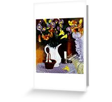 Get Well soon fresh flowers Greeting Card
