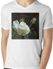 White Rose in the Garden Mens V-Neck T-Shirt