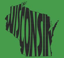 Wisconsin State Word Art Kids Clothes