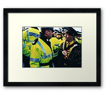 Clean Cop Framed Print
