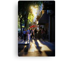 Downtown Saturday Night Canvas Print