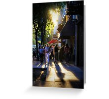 Downtown Saturday Night Greeting Card