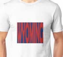 Wyoming State Word Art Unisex T-Shirt