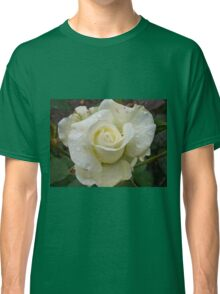 Close up of white rose 2 Classic T-Shirt