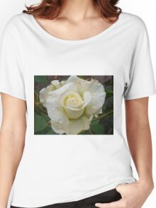 Close up of white rose 2 Women's Relaxed Fit T-Shirt