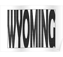 Wyoming State Word Art Poster