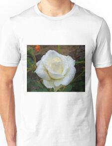 Close up of white rose 3 Unisex T-Shirt
