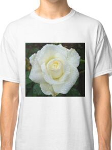 Close up of white rose 4 Classic T-Shirt