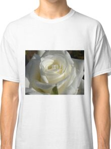 Close up of white rose 6 Classic T-Shirt