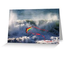 Kite in Surf Greeting Card