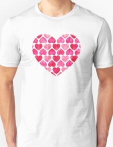 Ruby Hearts Unisex T-Shirt