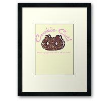 Cookie Cat Vintage Logo Framed Print