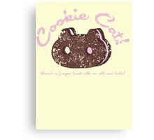 Cookie Cat Vintage Logo Canvas Print