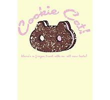 Cookie Cat Vintage Logo Photographic Print