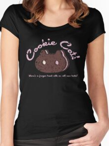 Cookie Cat Vintage Logo Women's Fitted Scoop T-Shirt