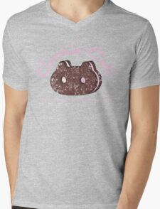Cookie Cat Vintage Logo Mens V-Neck T-Shirt