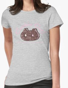 Cookie Cat Vintage Logo Womens Fitted T-Shirt