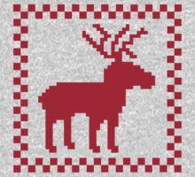 Red moose pixel mattern Kids Clothes