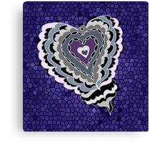 Tiled Heart Canvas Print