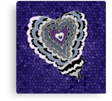 Tiled Heart Canvas Print