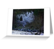 Icicle Cliff Greeting Card