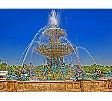 Fountain on the Place de la Concorde, Paris, France Photographic Print