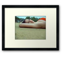 In The Sand Framed Print