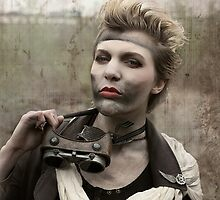 Dieselpunk Kitty Shoot - Goggles Pout by atomicgirl