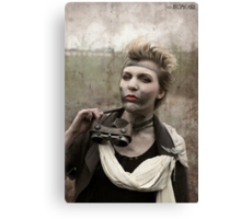 Dieselpunk Kitty Shoot - Goggles Pout Canvas Print
