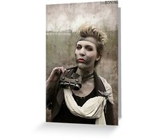 Dieselpunk Kitty Shoot - Goggles Pout Greeting Card