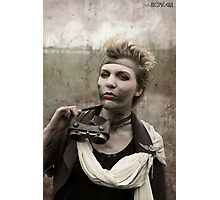 Dieselpunk Kitty Shoot - Goggles Pout Photographic Print