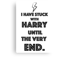Stuck with Harry. Canvas Print