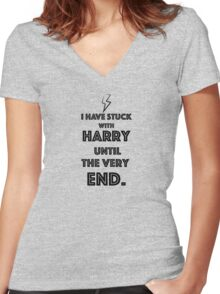 Stuck with Harry. Women's Fitted V-Neck T-Shirt