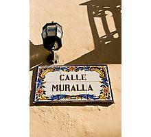 Calle Muralla Photographic Print