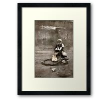 Dieselpunk Kitty Shoot - Fire Framed Print