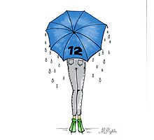 12th Man Umbrella  Photographic Print