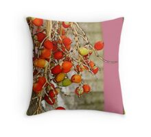 Palm Fruit Throw Pillow