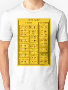 An illustrated guide to the world of Beer T-Shirt