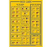 An illustrated guide to the world of Beer Photographic Print