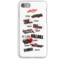 Quentin Tarantino - Art Filmography iPhone Case/Skin