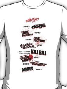 Quentin Tarantino - Art Filmography T-Shirt