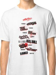 Quentin Tarantino - Art Filmography Classic T-Shirt