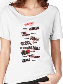 Quentin Tarantino - Art Filmography Women's Relaxed Fit T-Shirt