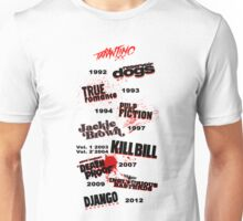 Quentin Tarantino - Art Filmography Unisex T-Shirt