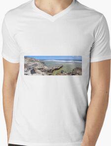 West Point - Rottnest Island WA -  Panorama Mens V-Neck T-Shirt