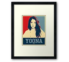Yoona SNSD Hopeless Design Framed Print