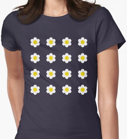 Retro Daisy Womens Fitted T-Shirt