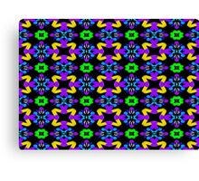 Psychedelic clover pattern St. Patrick's Day design Canvas Print